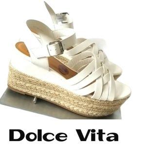 Dolce Vita White Spadrilles Sandals New! Size 8